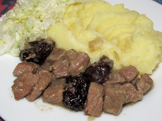 Фото рецепт приготовления говядины с черносливом