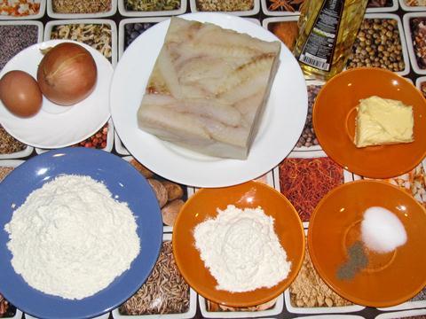 ингредиенты для котлет из рыбы