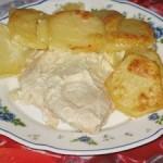 Куриные грудки, запеченные с картошкой