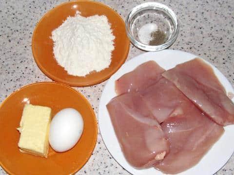 ингредиенты для куриных оладий