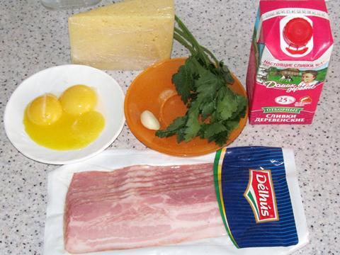 ингредиенты для соуса карбонара фото