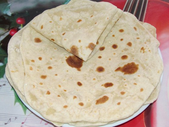 Фото рецепт приготовления постных лепёшек на сковороде