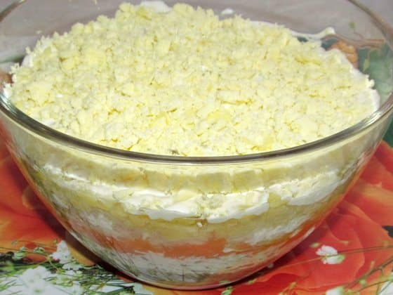 Фото рецепт классического салата мимоза