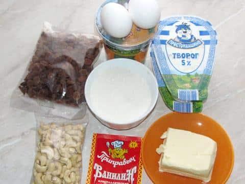 ингредиенты для заварной пасхи фото