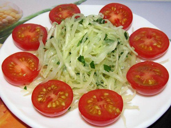 капустный салат с помидорами черри фото рецепт приготовления