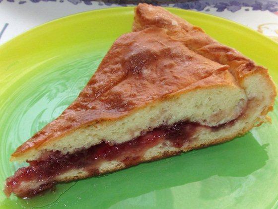 Пирог с вишнёвым вареньем фото рецепт приготовления