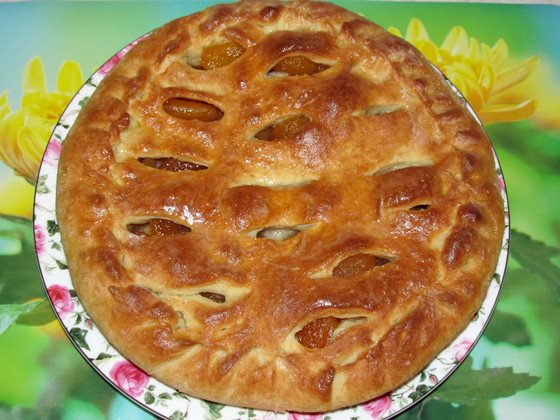 пирог смазан
