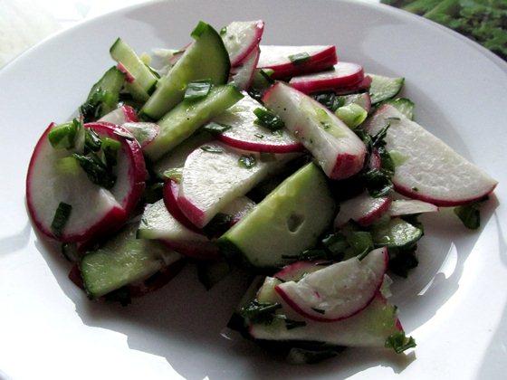 Салат из редиса с огурцом фото рецепт приготовления