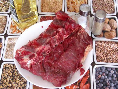 ингредиенты для стейка из говядины