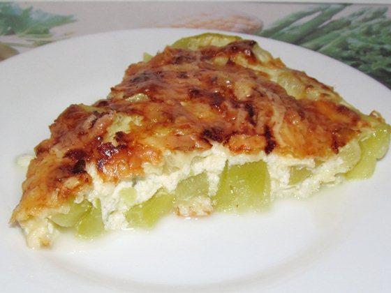 Кабачки запечённые с сыром и омлетом  фото рецепт приготовления на сайте Вкусно и Просто