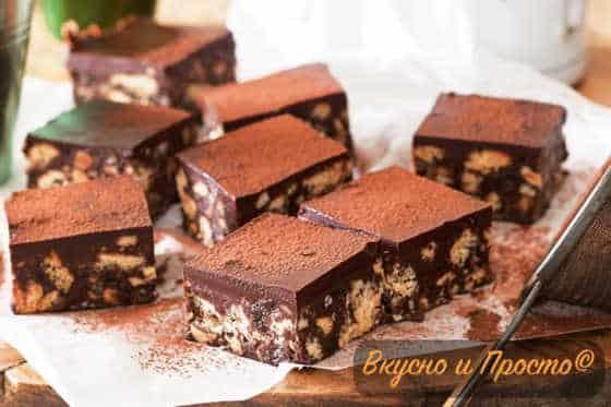 шоколадный торт с орехами без выпечки