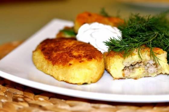 Картофельные зразы в духовке рецепт с фото