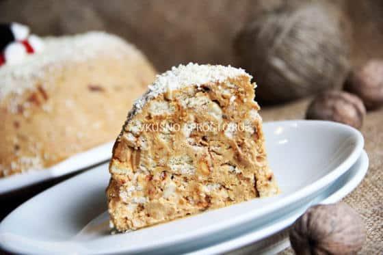 Вафельный торт со сгущенкой и орехами   СЛАДКИЕ РЕЦЕПТЫ   373x560