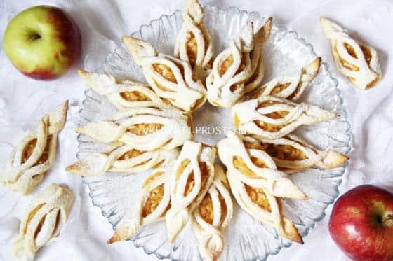 Невероятно красивое и вкусное печенье с начинкой из яблок и корицы, которое довольно просто приготовить