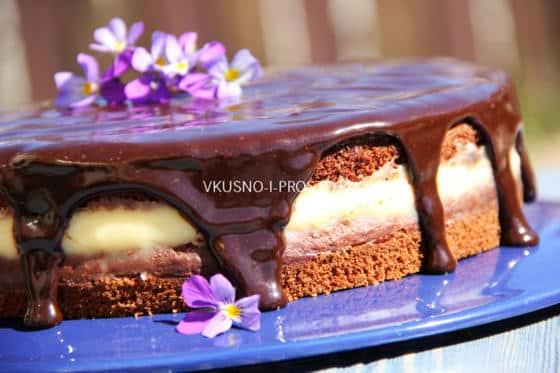 как испечь простой торт на кефире домашних условиях рецепт