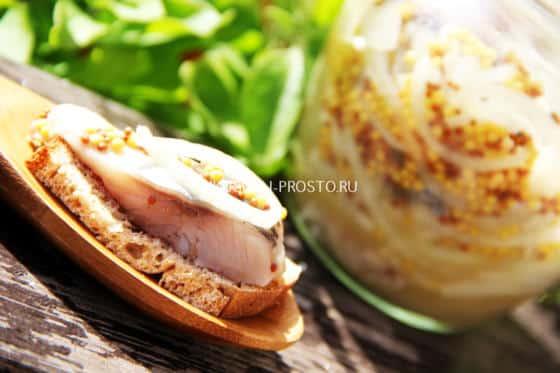 Рецепт пряной маринованной селедки