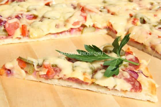 рецепт теста на пиццу с дрожжами быстрое