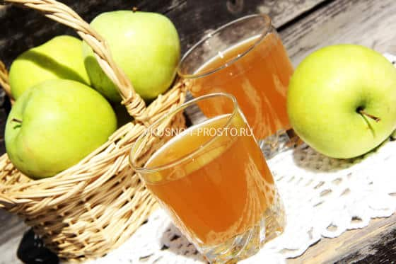 Бодрящий яблочно-кофейный квас за 10 минут