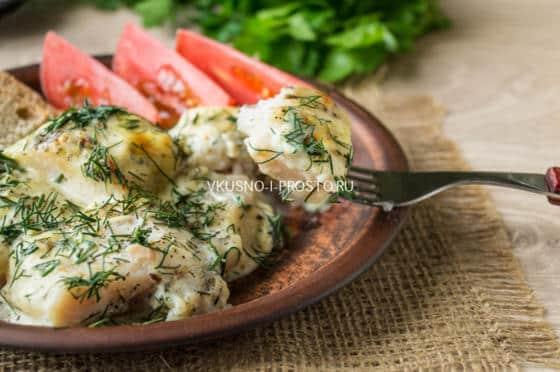 Рыба в сметане в духовке рецепт и