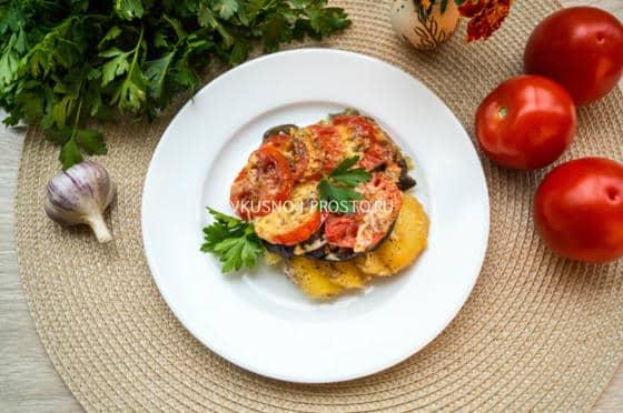 Говядина с картошкой и грибами в духовке рецепт с фото пошагово