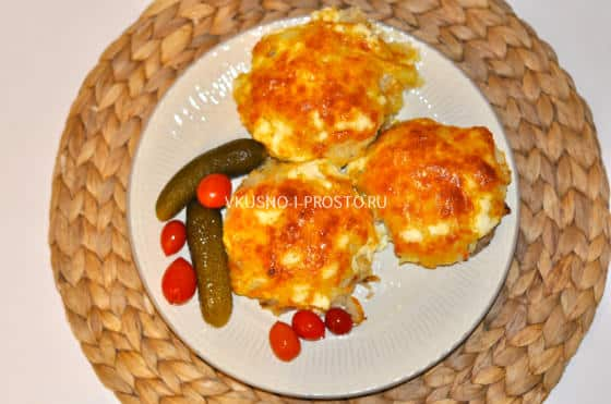 запеканка из тертого картофеля с фаршем в духовке с фото