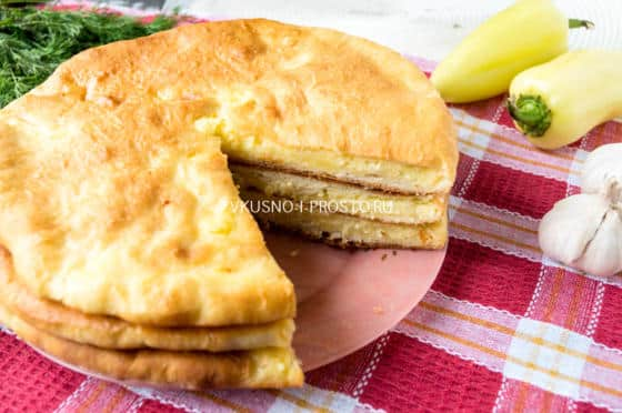пирог с брынзой и картофелем