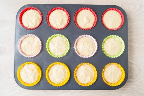 Банановые кексы в силиконовых формах рецепты