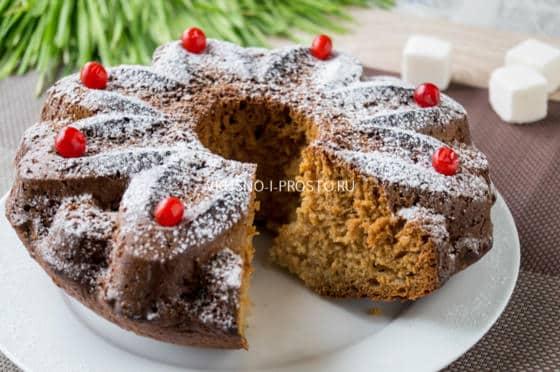 Сладкий пирог на кефире с вареньем в духовке рецепт с фото