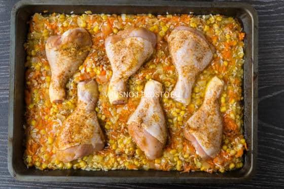Курица в пакете с рисом пошаговый рецепт
