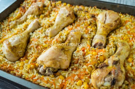 рис с куриными ножками в духовке рецепт с фото
