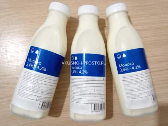 Магазинное молоко для домашнего творога