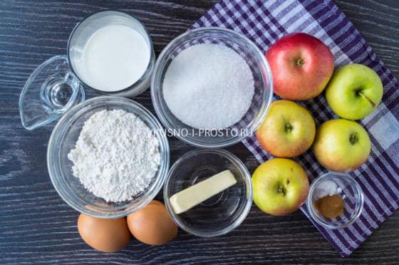 ингредиенты для яблочного пудинга