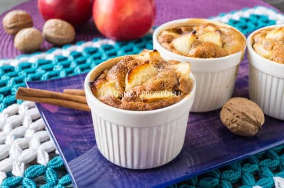 пудинг с яблоками
