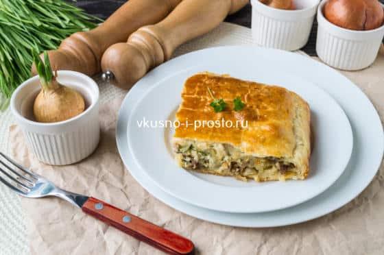 греческий пирог с фаршем и сыром