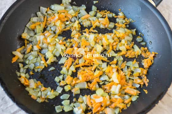 пассеруем овощи