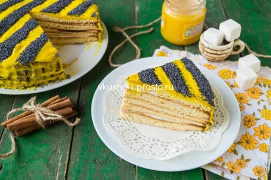 Торт пчелка рецепт с фото пошагово в домашних условиях 744
