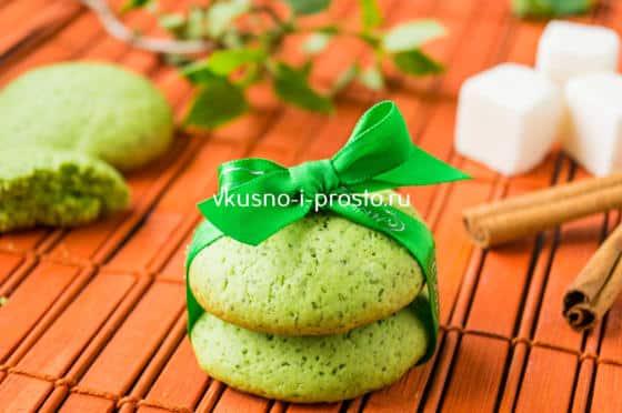 готовое печенье из мяты