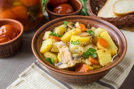 готовый картофель в рукаве