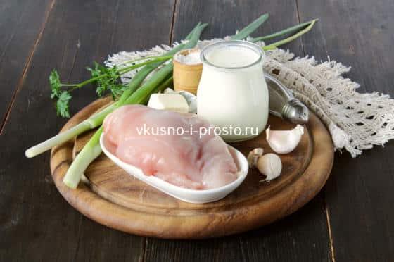 Ингредиенты для курицы в молоке