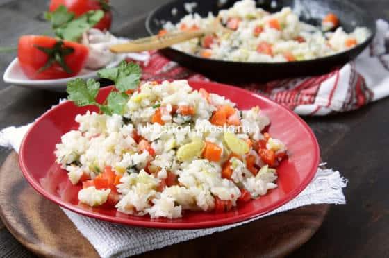 Рецепт постного риса с овощами