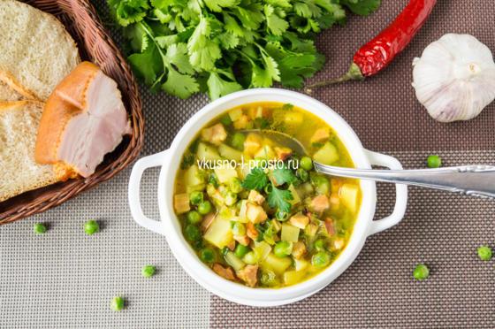 Суп копченой грудинкой рецепт фото