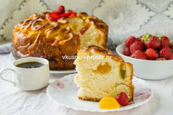 дрожжевой пирог с мармеладом
