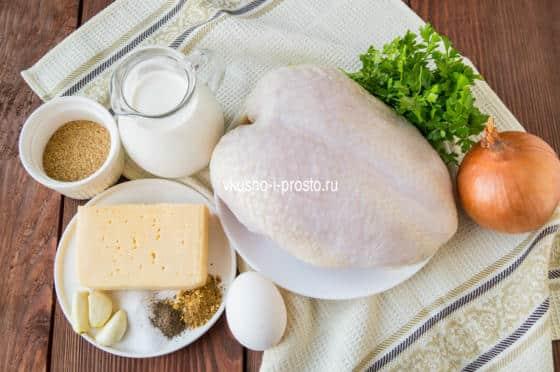 ингредиенты для куриных шариков