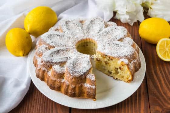кекс на кефире с лимоном