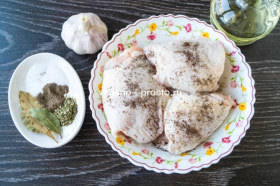 маринуем куриное мясо