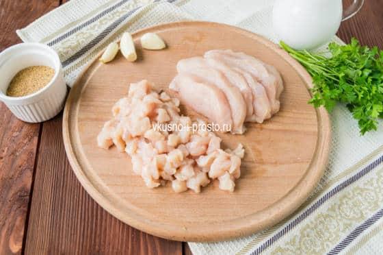 нарезаем филе
