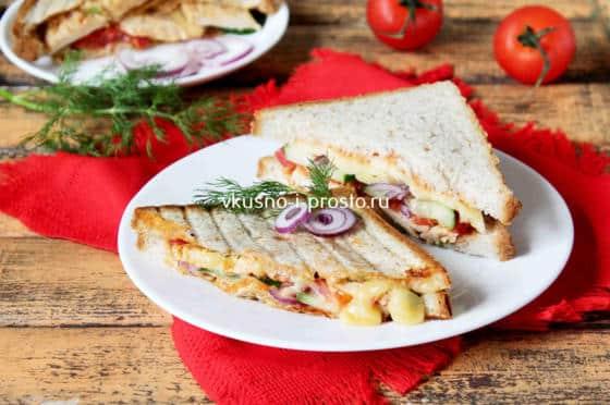 Сэндвич из бутербродницы