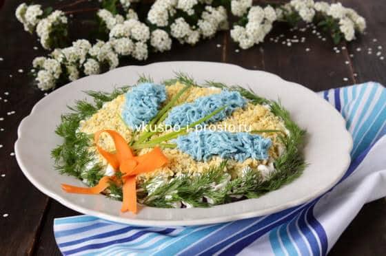 """Праздничный салат """"Гиацинты"""""""