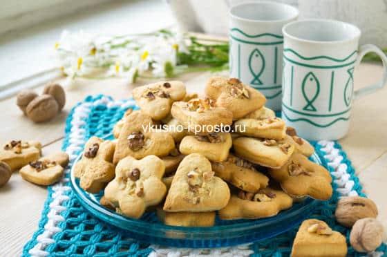 печенье на кефире с орехами