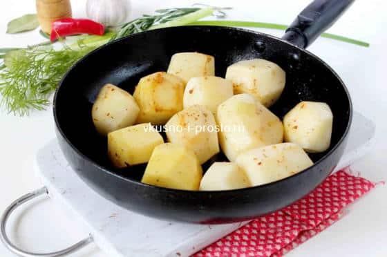 Подрумяниваем картофель